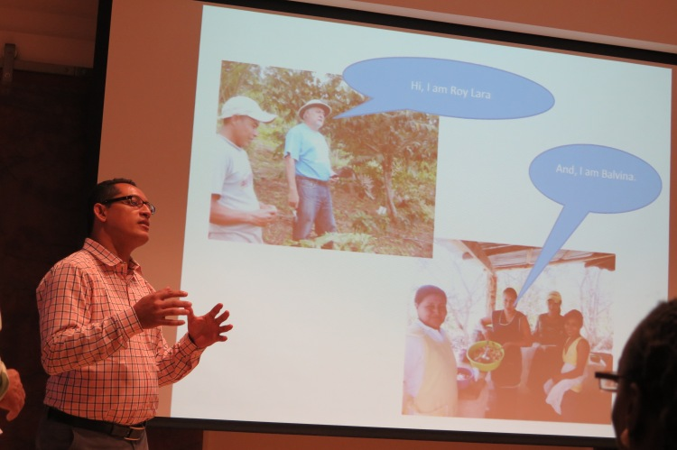 During a visit in to Washington DC in 2015 Edwin explains how other VH staff members will work for short periods in the TCP communities. In early 2016 two staff members led workshops on nutrition, building improved stoves and sinks, and planting vegetable gardens.