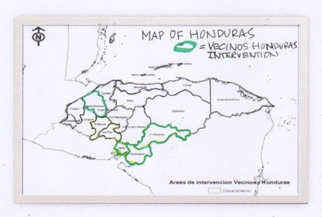 Vecinos Honduras currently operates in the three departments (states) in southeastern Honduras. The Trinidad Conservation Project is in the western department of Santa Barbara. Including TCP was an act of vision by Edwin Escoto.
