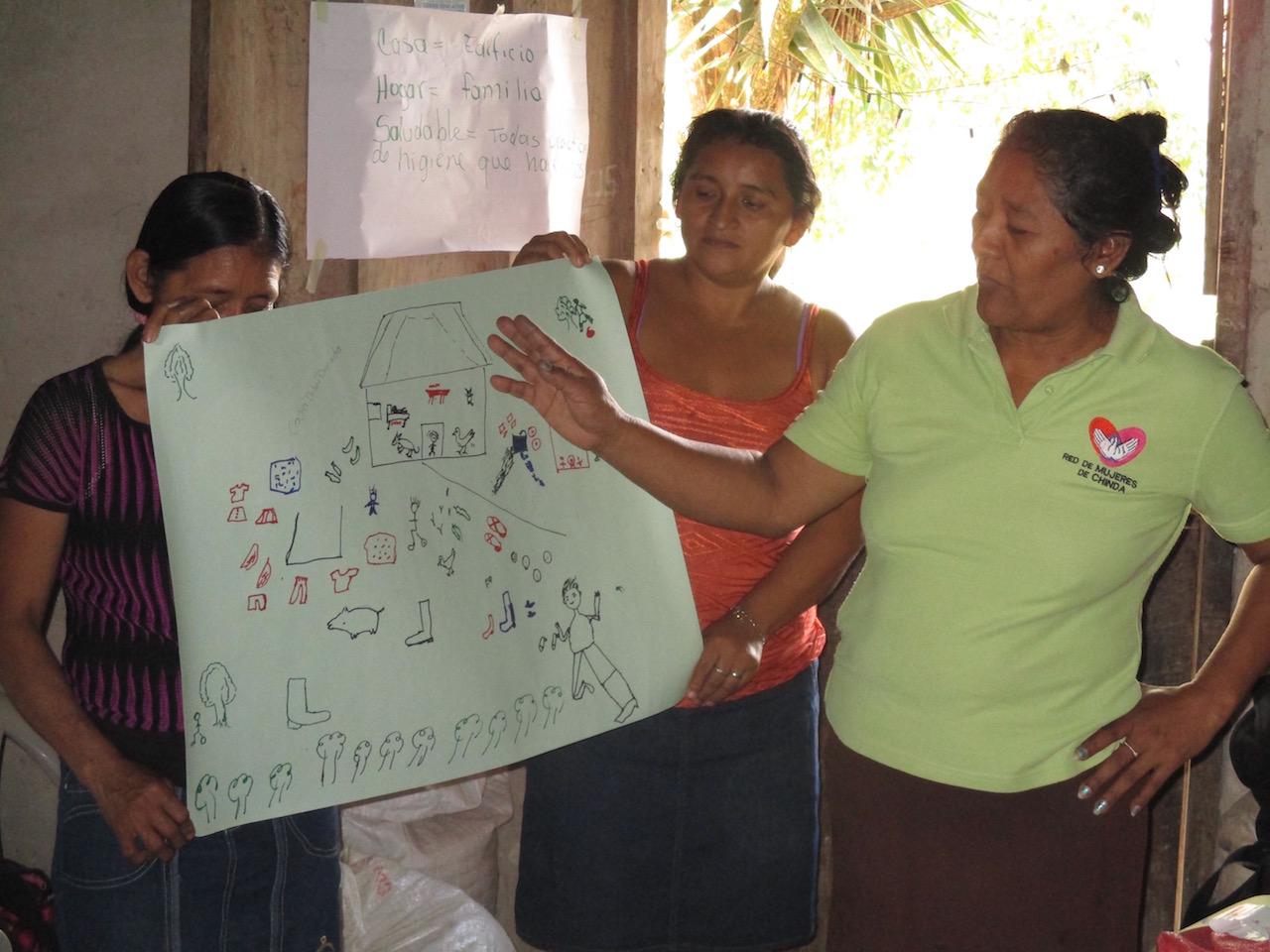 Maria de Jesus Briones at healthy home workshop.